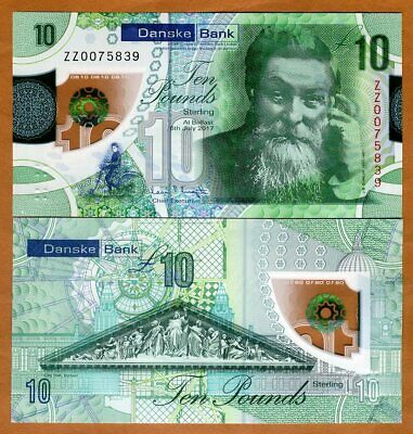 Ireland Northern, Danske Bank 10 pounds 2017 P-New Polymer, UNC ZZ - Replacement