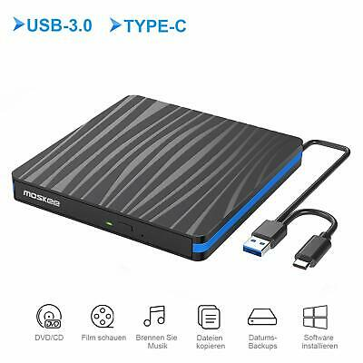 Lecteur Graveur CD DVD Externe USB 3.0 USB-C Portable Windows Mac
