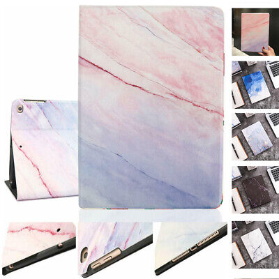 Ultra-thin Smart Case for iPad 10.2 7th Gen 2019 Marble Design Folio Stand Cover