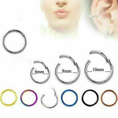 Classic Nose Ring Hoop Nose Stud Rings Body Piercing Surgical Steel Ear Jewelry