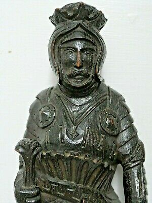 Wonderful Carved Oak Figure Count Hapsburg Extremely Rare Large Wood Figure L@@K