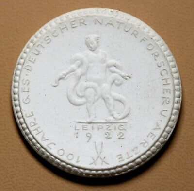 Germany 1922 Leipzig Porcelain Coin UNC by Meissner RARE