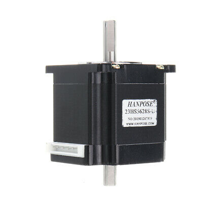 HANPOSE Double Shaft 23HS5628-D 56mm Nema 23 Stepper Motor 57 Motor 2.8A 126N.cm