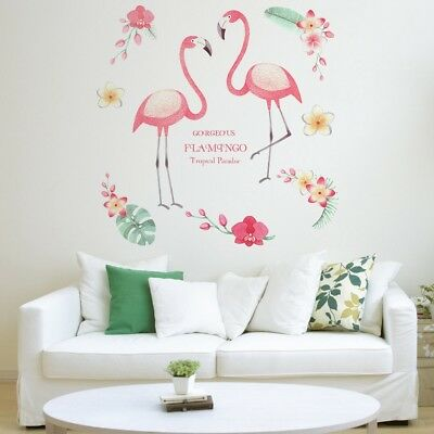Removable Wall Flamingo Stickers Kitchen Bedroom Home Sofa Art Stickers