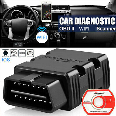 OBDII OBD2 ELM327 Wifi Car Auto Diagnostic Tool Code Scanner Adapter iOS/Android