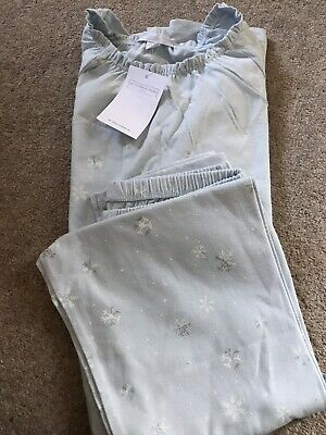 THE WHITE COMPANY GIRLS PYJAMAS AGE 11-12 Brand New Snowflake