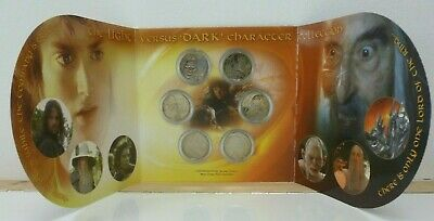 Lord of the Rings New Zealand 6-Coin BU 50 Cents 2003 Gollum, Gandalf, Frodo etc