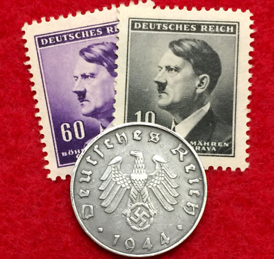 Authentic Old WWII German 10 Cent Coin Military Army War Collection & Stamps