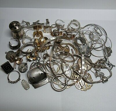 183.7 Grams SOLID STERLING SILVER Scrap Jewelry