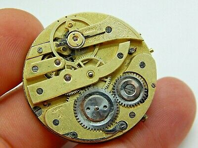 Antique Pocket watch movement Swiss made Minerva 12S OF with good balance