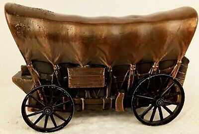 1974 Banthrico BANK Cast Metal Copper Toned Covered Wagon Chicago, USA EUC