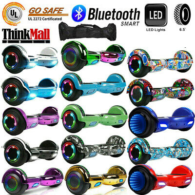 "6.5"" Electric Hoverboard Scooter Bluetooth LED UL2272 Self-Balancing With Bag"