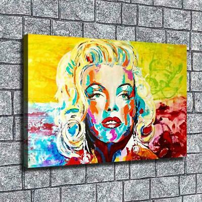 """12""""x18"""" Abstract Color Marilyn Monroe HD Canvas print Home Decor Wall art Poster"""