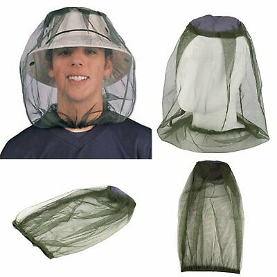 3xMOSQUITO FLY HEAD NET INSECT MESH HAT BEE BUG MOZZIE PROTECTOR OUTDOOR FISHING