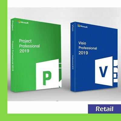 Official Microsoft Visio Pro + Project Pro 2019 5 PC key Instant Delivery!