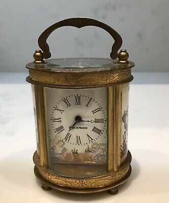 20th Century Miniature Oval French Carriage Clock