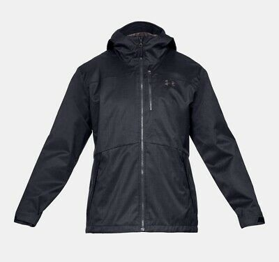 NEW Under Armour Mens Storm Black Infared 3-in-1 Jacket 1316018 001 Free Ship