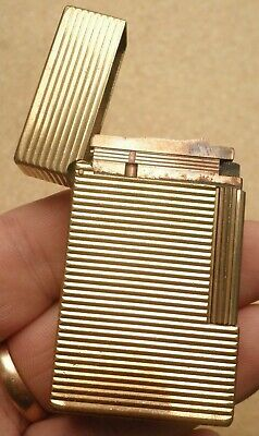 Accendino St Dupont Ligne 1 Large Placcato Oro Vintage Lighter Gold Plated