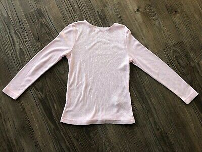 Girls Pink Long Sleeved Thermal Top, Base Layer, George, 5-6 Yrs
