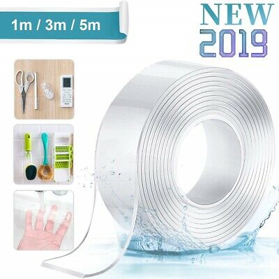 Reusable Nano Adhesive Tape Double-Sided Traceless Washable Gel Tape Anti-Slip