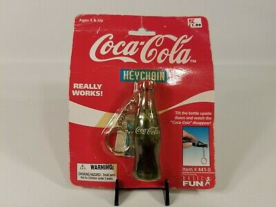 Vintage Coca Cola Bottle Collectible Keychain 1999 Watch TheCoke Disappear 441-0