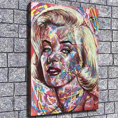 """12""""x16"""" Line Abstract Monroe HD Canvas prints Home decor Room Wall art Pictures"""