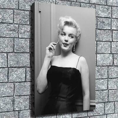 "12""x18"" Monroe Touch Earrings HD Canvas prints Home decor Room Wall art Pictures"