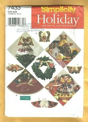 7433 Vintage Simplicity SEWING Pattern Christmas NO SEW Angels UNCUT
