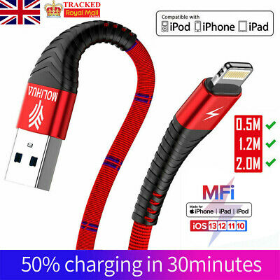 USB Lightning Data Sync Charging Cable Lead Charge Wire Cord for iOS iPhone