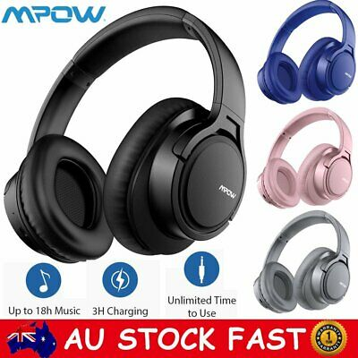 Mpow H7 Plus Bass Bluetooth Headphones Noise Cancelling Wireless On Ear Headsets