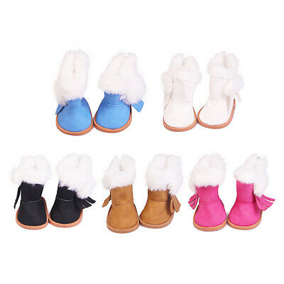 Winter Glitter Doll Shoes For 18 Inch American Girl Doll  Girl's gifts Accessory