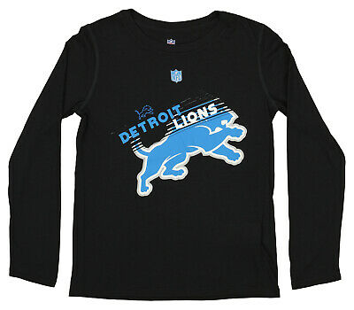 NFL Boys Girls Youth Detroit Lions 24KT Gold Short Sleeve Tee Black