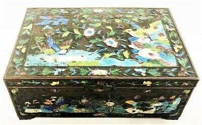 Antique Chinese Bronze and Enamel Box