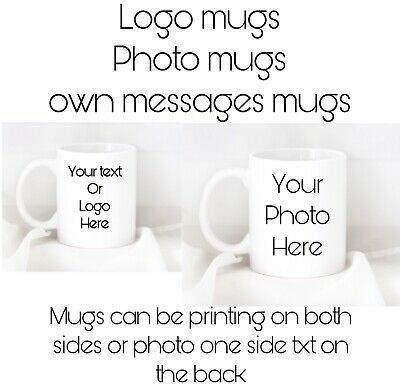 Printed Custom Personalised Mug Mugs With Your Own Text, Photo Or Logo