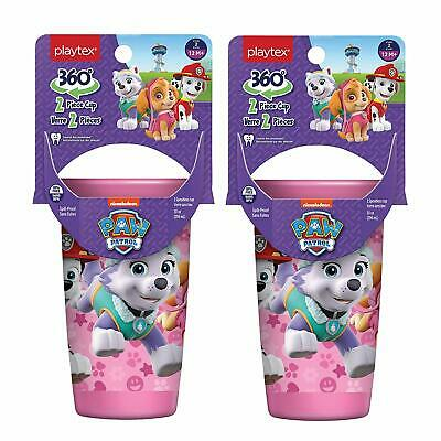 Playtex Sipsters Stage 2 360 Degree Paw Patrol Spill-Proof Spoutless 12m+