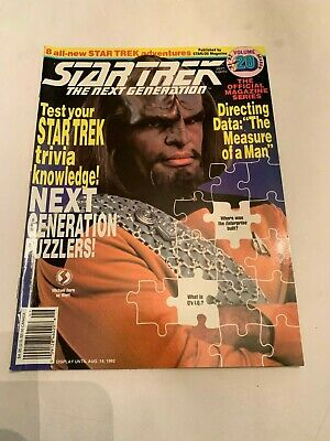1992 Star Trek The Next Generation Magazine Volume 20