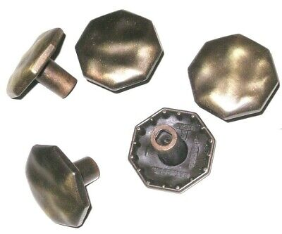LOT 50 Vintage 1 1/4 Ajax Early American Antique Brass Drawer Cabinet Pull Knobs