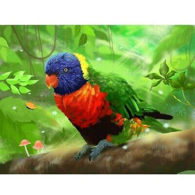 5D Full Drill Diamond Painting Parrot On The Ground Embroidery Kits Decor Mural