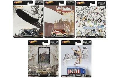 In Hand Ready 2 Ship Hot Wheels 2020 Pop Culture Led Zeppelin Complete 5 Car Set