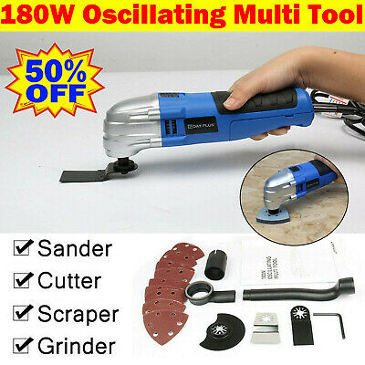 VOCHE 300W ELECTRIC OSCILLATING MULTI TOOL WITH 47PC ACCESSORIES SET CORDED