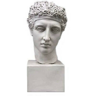 """Olympic Games Greek Athlete bust 20"""" Museum Sculpture Replica Reproduction"""
