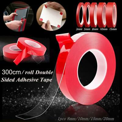 5M DIY Super Strong Double Sided Foam Mounting Tape Permanent Self Adhesive Trim
