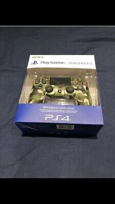 PlayStation DualShock 4 V2 Wireless Controller - Green Camo For PlayStation