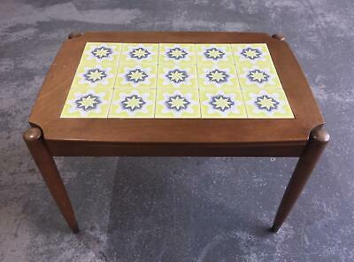 Rare Poole Pottery Freeform Design Tiled Coffee Table - MCM MidCentury 1950s