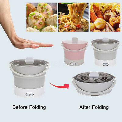 Multi-function Silicone Travel Foldable Electric Portable HotPot Cooker Steamer