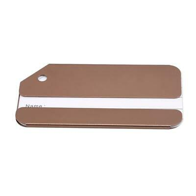 Aluminium Alloy Luggage Tags Suitcase Label Name Address ID Baggage Tag Travel D