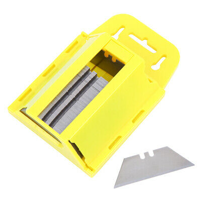 Samger 100x Utility Blades Box Cutter Exacto Replacement Steel Knife w/Dispenser