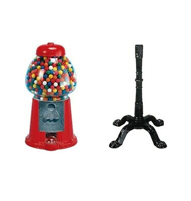 Real Glass King Carousel Candy Gumball Machine Bank With 37 Inches Stand