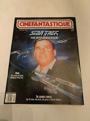 1991 Cinefantastique Magazine Vol 22 No 3 Star Trek The 25th Anniversary