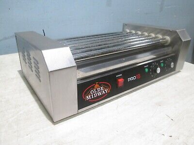 """""""Olde Midway"""" Heavy Duty Commercial Counter-Top Hot Dog Ss Roller Grill"""
